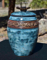 Medium Blue Treasure Jar with lid