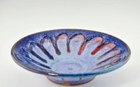 "Handmade Pottery Medium Kaleidoscope Bowl 11"" in Fiesta Glaze"