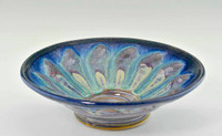 "Handmade Pottery Medium Kaleidoscope Bowl 11"" in Cocktail Glaze"