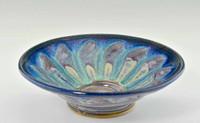 "Handmade Pottery Medium Kaleidoscope Bowl 11"" in Cocktail Glaze"