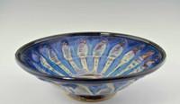 "Handmade Pottery Large Kaleidoscope Bowl 13"" in Cocktail Glaze"