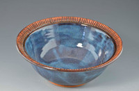 "Handmade Pottery Small 7"" Bowls - blue"