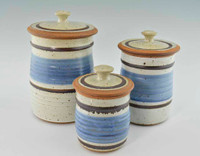 Handmade Pottery Canister Set in Old Republic Glaze