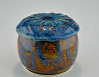 Treasure Jar with Lid in Ocean Blue Glaze