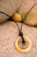 Destiny Duo Stone Pendant Stone Jewelry - Butterscotch Jasper and Leopardskin Jasper