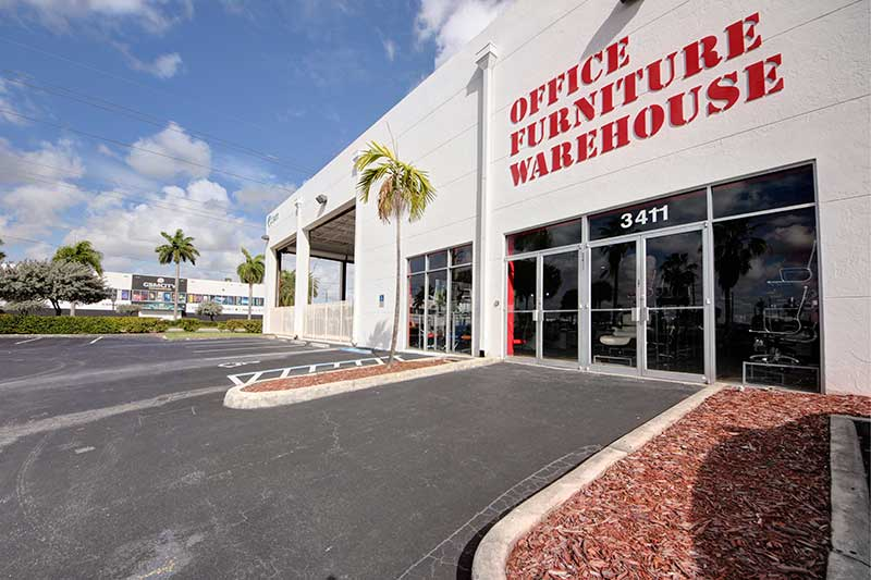 office furniture warehouse miami storefront