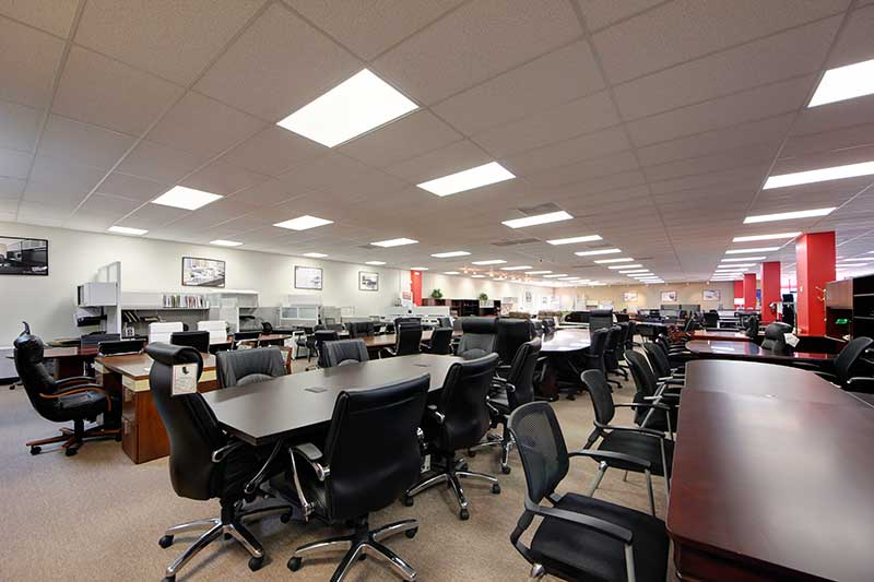 Showroom Floor At Office Furniture Warehouse Pompano Beach