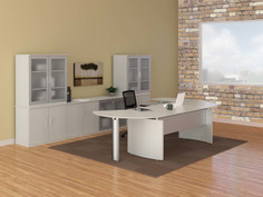 Medina Curved Desk Suite-Textured Sea Salt