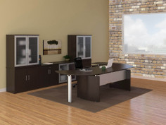 Medina Curved Desk Suite-Mocha