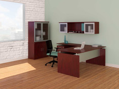 MNDS72-MNRT-MNH72-MNSC-MGDC- MEDINA STRAIGHT DESK/RETURN IN LMH MAHOGANY