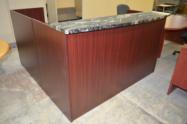 Cherryman Amber Reception Desk With Marble Top