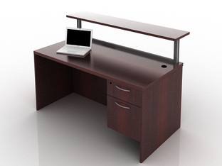 OFW TL Borders Reception Desk with BF 30x60