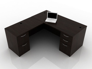 OFW TL L-Shape Desk with BBF & FF 30x66