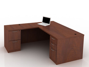 OFW TL L-Shape Rectangular Desk with BBF & FF 36x72