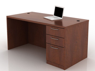OFW TL Single Pedestal Desk with BBF 30x60