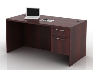 OFW TL Single Pedestal Desk with BF 30x60