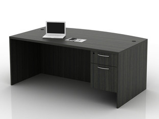 OFW TL Single Pedestal Desk with BF 36x72