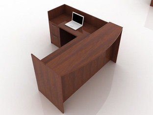 OFW TL L-Shape Reception Desk