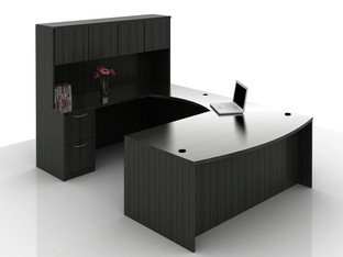 OFW TL U-Shape Desk with Hutch BBF & FF 36x72