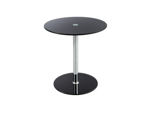 Safco Glass Accent Table - Black