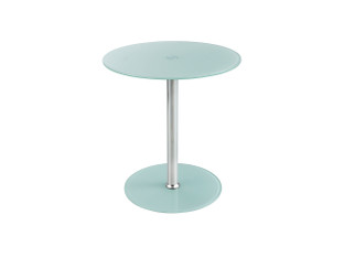 Safco Glass Accent Table - White
