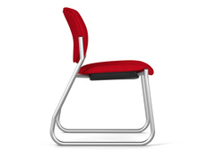 Freelance sled, SitOnIt Seating Spice Paprika, armless, silver frame