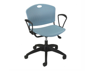Anytime light task chair, lagoon shell, black frame