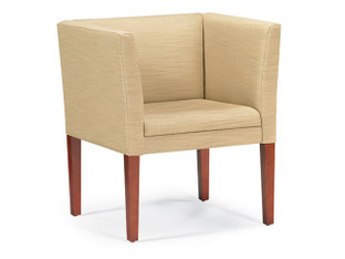 "P-2831 Club Chair shown in Shaker, Focus, ""Lichen"" upholstery"