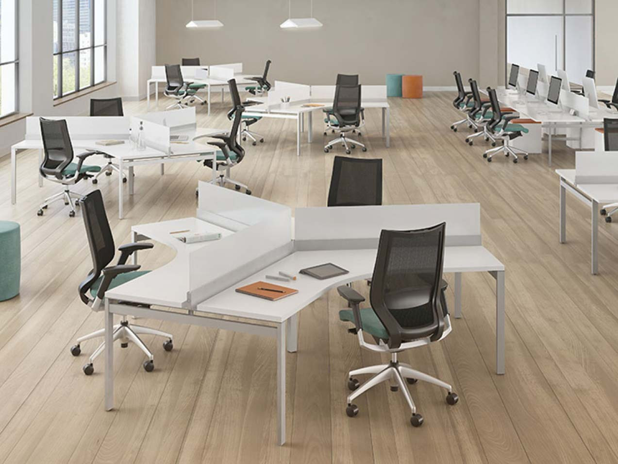 First Office Staks Benching Office Furniture Warehouse