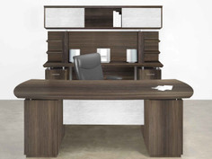 1A-NEW Sterling Desk-Credenza Textured Brown Sugar