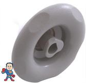 "Jet Internal, Pentair, Cyclone Micro, 3-1/4"" face diameter, Swirl ,5 Scallop, Silver"