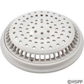 "Main Drain Grate, WW Anti Vortex, 8"" Rnd, w/Collar, White"