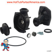 "Wet End, Jacuzzi J-Series 1.0hp 2""Jacuzzi Thd 48fr Kit The complete wet end includes: the volute, seal, impeller, wear ring, volute o-ring, faceplate and faceplate screws."
