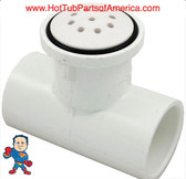 "Air Injector Jet, Top Flow, 1""slip X 1"" Slip, Tee Style, White, Salt and Pepper Style"
