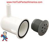 "Air Injector, Top Flo, 3/8""b, 90° ELL Body, Gray, Salt & Pepper Style"