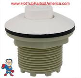 """Air Button, Presair, Standard, 1-3/4""""hs, 2-5/8""""fd, White"""