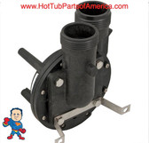 "Wet End, Aqua-Flo, FMVP, 1.0HP, 1-1/2"", 48 frame, 10-11A/115v Verticle Mount Pump The Suction and Pressure sides both Measure about 2-3/8"" Across the threads and is called 1 ½""! Also the suction side of this wet end can be used in any position you simply unscrew the four bolts in the front and turn it and tighten the bolts back in and you are done..."