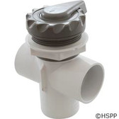 "Diverter Valve, WaterWay, 2"" x 2"" x 2"", 3 Port, Top Mount, Scalloped, Gray Complete"