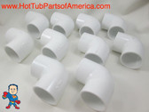 "10X Hot Tub Spa 90 ELL 1 1/2"" Slip X 1 1/2"" Slip Plumbing PVC Fitting How To Video"