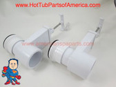 "Set of (2) Hot Tub Spa Gate Slice Valve 1 1/2"" Heater Union How To Video"
