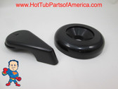 "Spa Hot Tub Diverter Handle & Cap 3 3/4"" Wide Black Notched Valve How to Video"