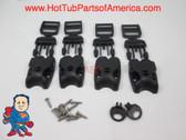 Spa Hot Tub Cover (4) Latch Lock Kit Key ACW Latch Strap Repair Kit Clip Video