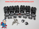 Spa Hot Tub Cover (6) Latch Lock Kit Key Stainless ACW Latches Repair Video