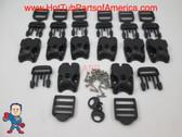 Spa Hot Tub Cover (8) Latch Lock Kit Key Stainless ACW Latches Keys Repair Kit