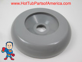 """Spa Hot Tub Diverter Cap 3 5/8"""" Wide Gray Smooth Non Buttress How To Video"""