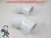 "2X Hot Tub Spa 45° 1 1/2"" Street X Slip Plumbing Ell PVC Fitting How To Video"