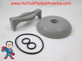 Saratoga Roto Stream Diverter Cap, Knob & O-Ring Gray Spa Hot Tub How To Video
