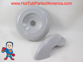 "Marquis Spa Hot Tub Gray Diverter 4"" Selector Handle & 4"" Threaded Cap Kit"