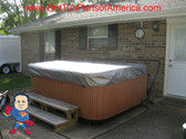 Spa Hot Tub Cover Cap SunShield® Fits JACUZZI® J Premium 84 x 84 Protector Video