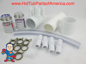 "Manifold Hot Tub Spa 2""spg x Dead End x (4)3/4"" Coupler Kit & Glue Video How To"